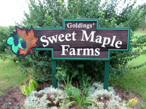Sweet Maple Farms Sign